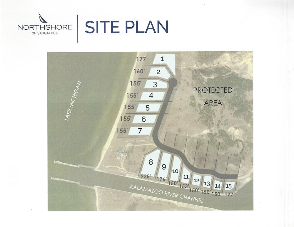 Northshore of Saugatuck Lot Plan